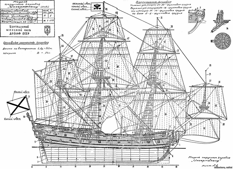Модели кораблей из дерева  чертеж 166